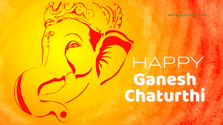 Lord ganesh image with Happy ganesh chaturthi wishes