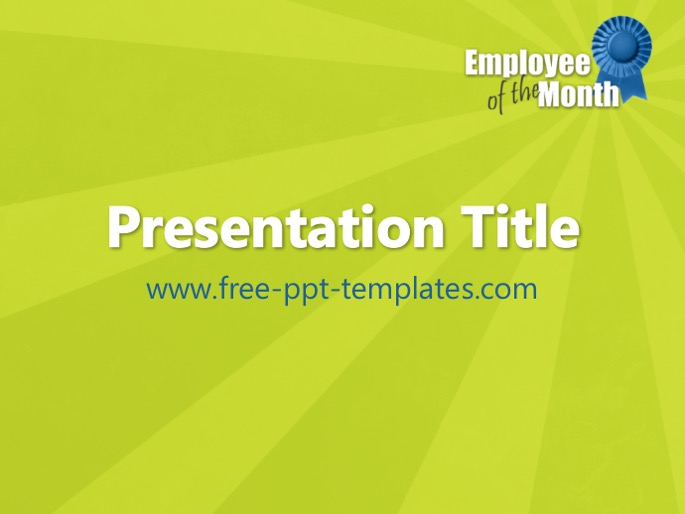 employee of the month ppt template, Modern powerpoint
