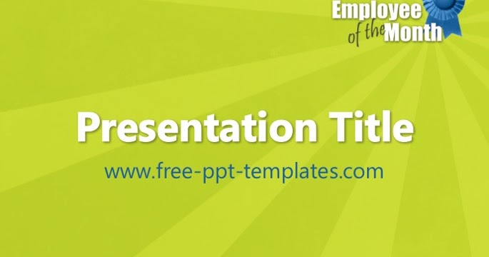 Employee Of The Month Presentation Kenindlecomfortzone