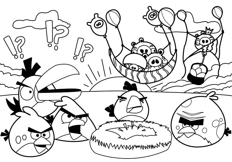 Buku Belajar Mewarnai Angry Birds Untuk Anak