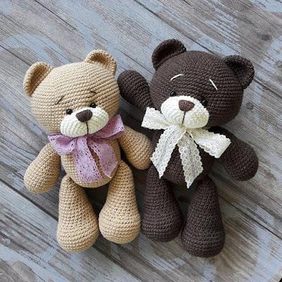 Медвежата амигуруми