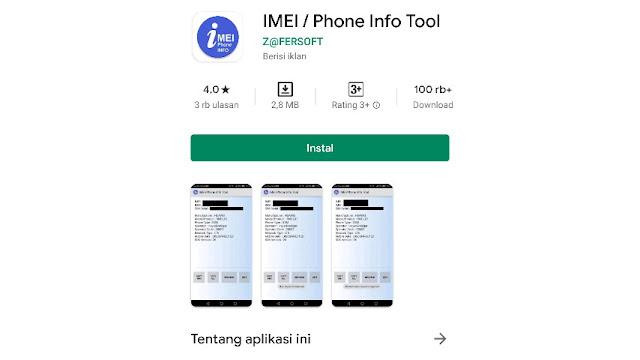 Cara cek IMEI Xiaomi dengan Aplikasi