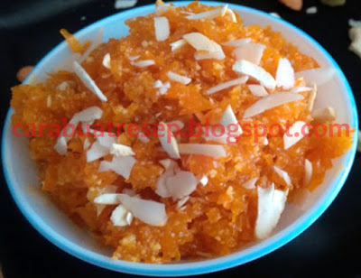 Foto Resep Halwa Wortel (Carrot Halwa) ( Gajar Ka Halwa) Khas India Sederhana Spesial Asli Enak
