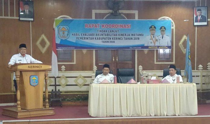 Wabup Ami Taher Pimpin Rakor Tindak Lanjut Hasil Evaluasi SAKIP