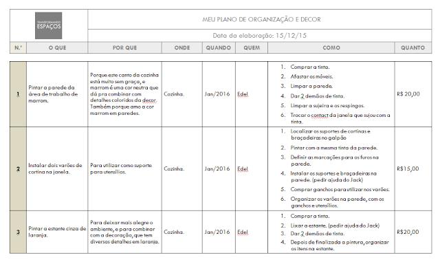 Plano de Organização e Decor
