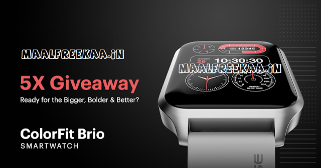 Smartwatch Giveaway You Can Win Free Noise Smartwatch