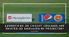 Advertising On Cricket Grounds Are Printed Or Displayed By Projector?