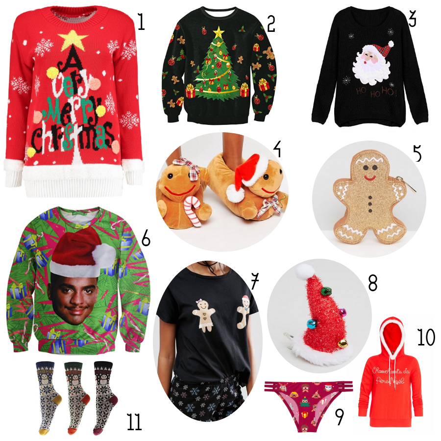 Sélection de pull moches de Noël