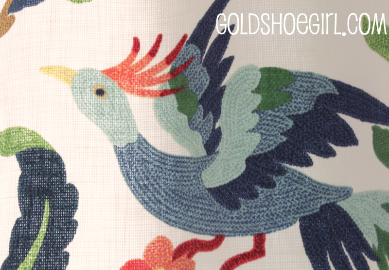 I Am Just In Love With This Fabric It S Not Real Crewelwork But Has The Look Especially From A Distance