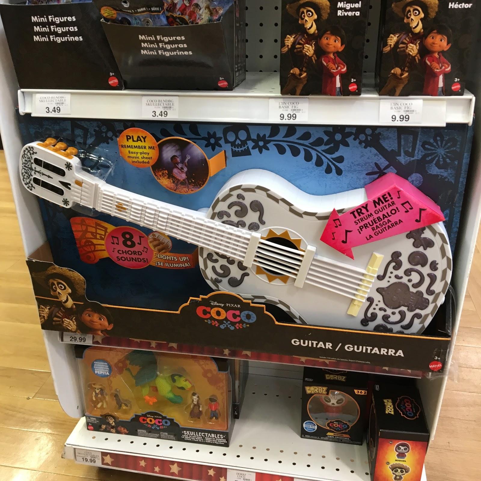 pixar coco guitar toys