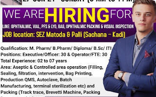 Amneal Pharma Recruitment For Executive/ Officer/ Operators/ FTE   Walk In Interview in Indore, Madhya Pradesh