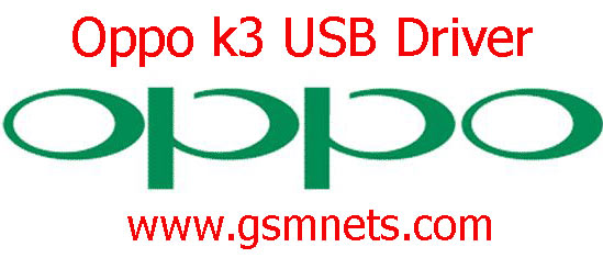 Oppo k3 USB Driver Download