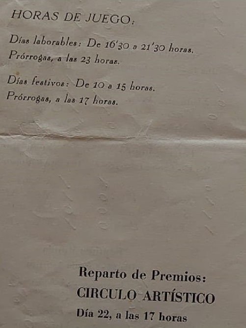 Horarios del V Campeonato Provincial de Tarragona-1963