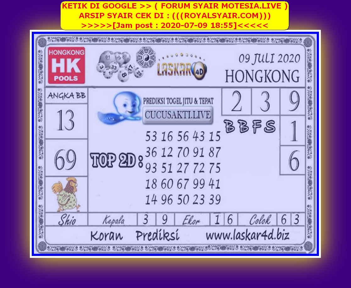 Kode syair Hongkong Kamis 9 Juli 2020 178