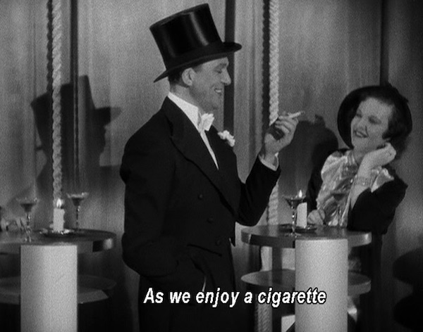 As we enjoy a cigarette