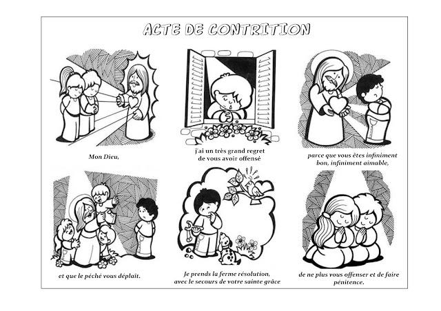 ACTE DE CONTRITION à colorier