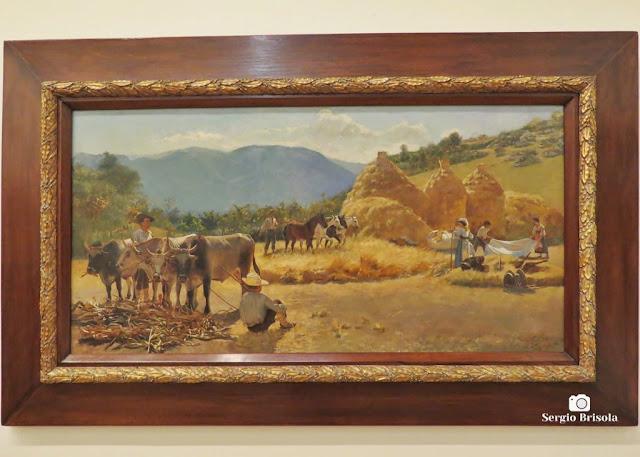 Close-up da Obra Ceifa - Pinacoteca de São Paulo - Luz- São Paulo