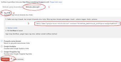 Mendaftarkan Blog di Google Web Master