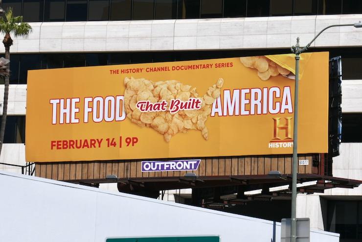 Food That Built America Chips billboard