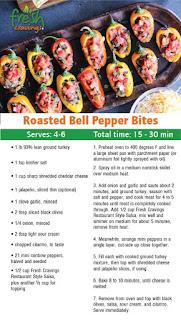 Roasted Bell Pepper Bites