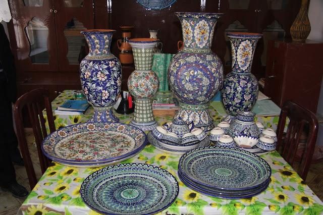 Ouzbékistan, Richtan, Tursunali Meliboev, Choukourjon  Rakhimov, céramique, © L. Gigout, 2012