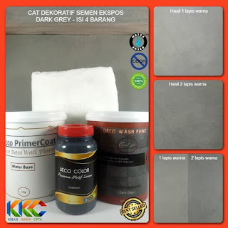 Cat Dekoratif Wash Paint Dark Grey  Isi 4 Item