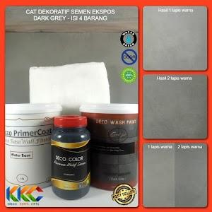 Cat Dekoratif Wash Paint Semen Expose - Dark Grey - Isi 4 Item