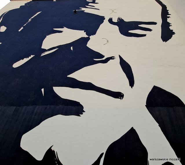 Wilhelm Sasnal mural warszawskie murale street streetart muralart Jacek Kuroń