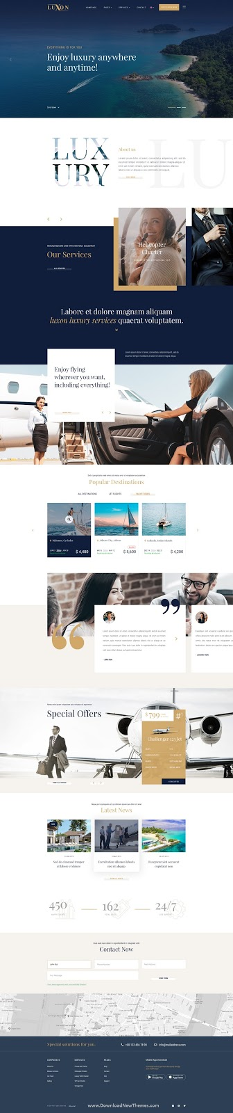 Luxury Services Modern Web PSD Template