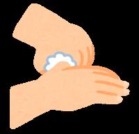 石鹸で手を洗う順番のイラスト(親指)
