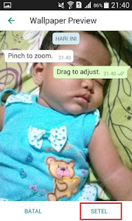 Cara Mengganti background Chat Whatsapp Dengan Foto