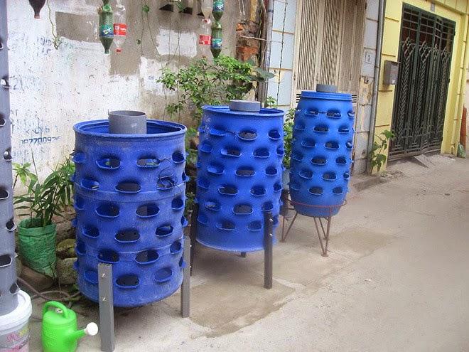 growing vegetables in plastic drums l