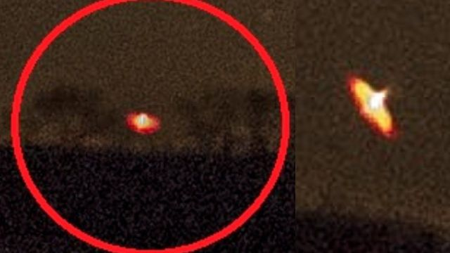 Glowing Discs Appear On The Horizon  Ufo-flying-saucer-strange-lights