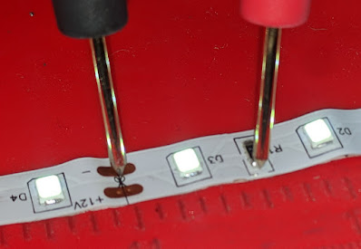 measuring the forward voltage of an LED