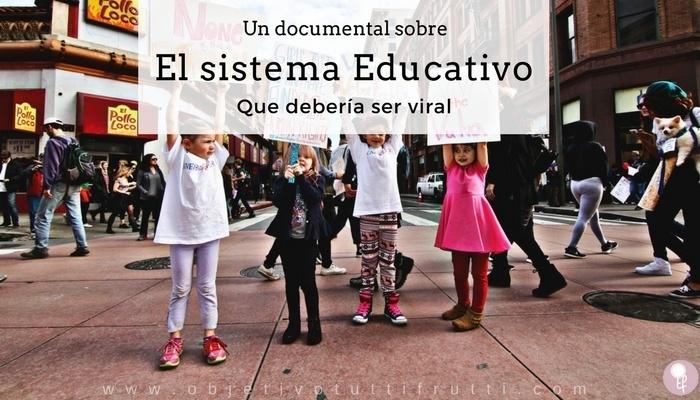Película documental muy buena sobre educación y el sistema educativo