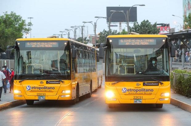 Elecciones 2021: transporte público operará este domingo de 05:00 a 22:30 horas