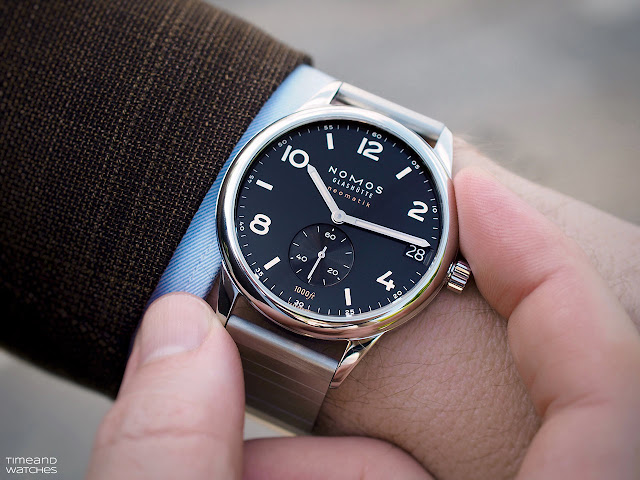 Wristshot of the Nomos Glashütte Club Sport