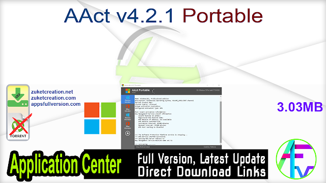 AAct v4.2.1 Windows Office Activator Portable