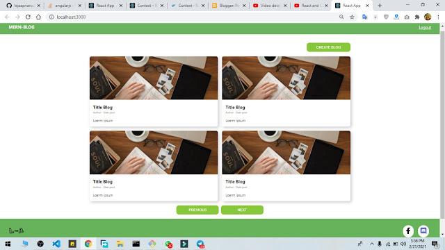 MERN Stack - Membuat Styling Item Blog Post dan Pagination