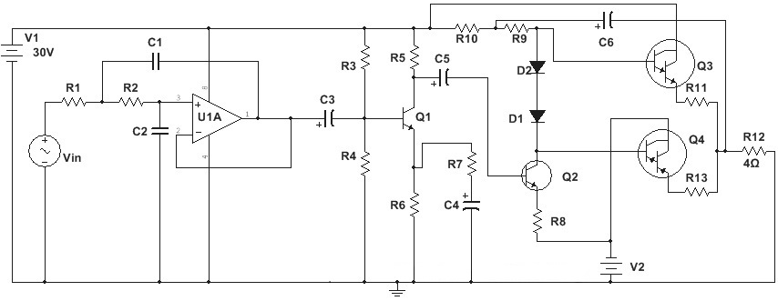 100w%2BSubwoofer%2BAmplifier%2BCircuit%2BDiagram woofer power amplifier circuit amplifiercircuit circuit diagram