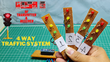 Density Based 4 Way Traffic Light Control System With Rf Transmitter And Receiver