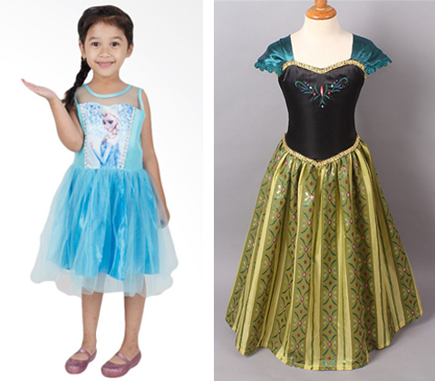 model baju frozen elsa dan anna