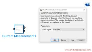 current measurement in matlab simulink