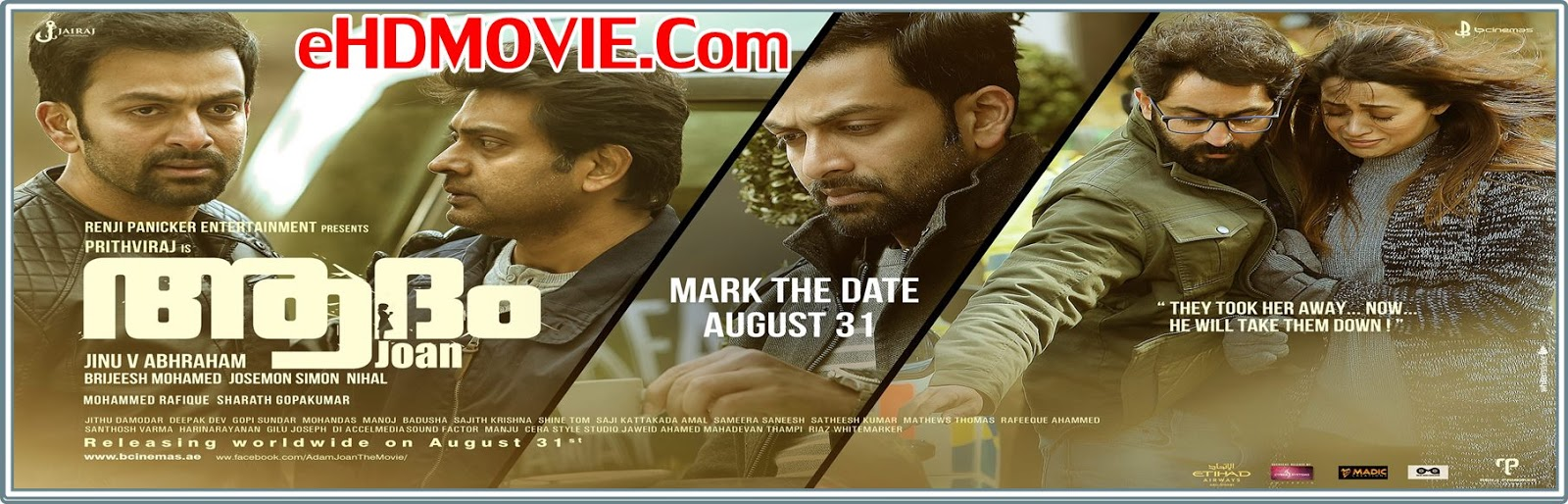 Adam Joan 2017 Full Movie Malayalam 480p ORG BRRip 500MB ESubs Free Download