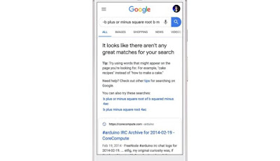 Google tells you that search results are not good?