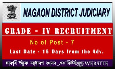 Nagaon Judiciary Recruitment 2021 - Grade IV