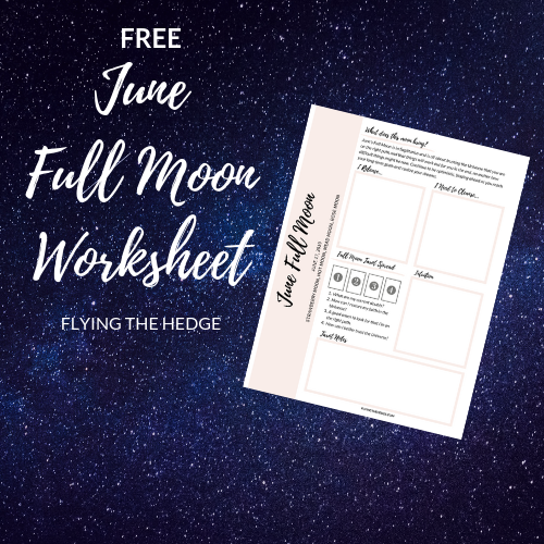 June Full Moon Worksheet
