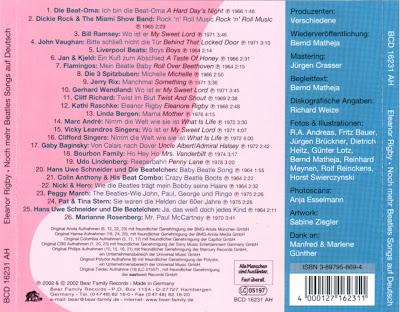 VA - Beatles Lieder Auf Deutsch / Beatles Songs Auf Deutsch