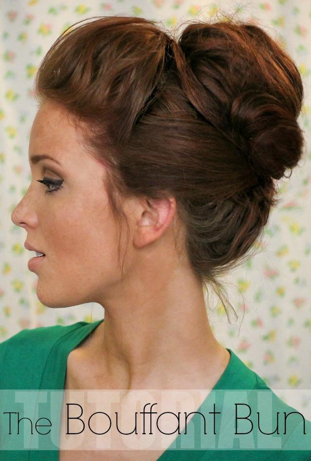 Stupendous The Freckled Fox Hair Tutorial The Bouffant Bun Short Hairstyles For Black Women Fulllsitofus