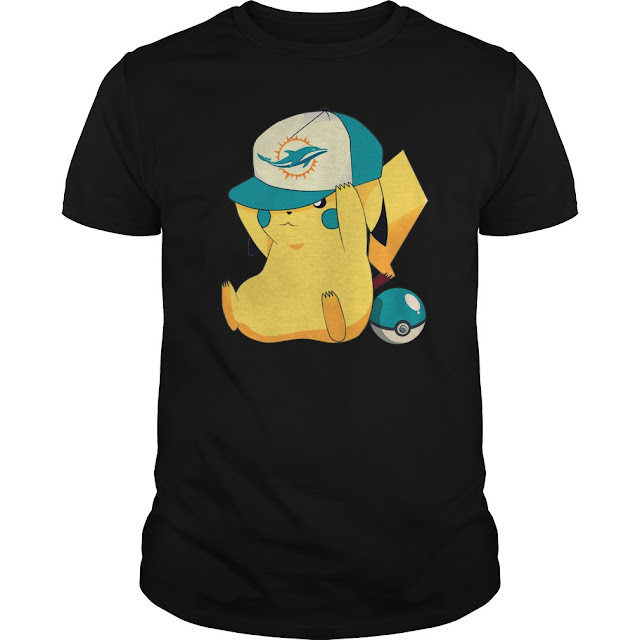 Miami Dolphins Pikachu Pokemon Shirt